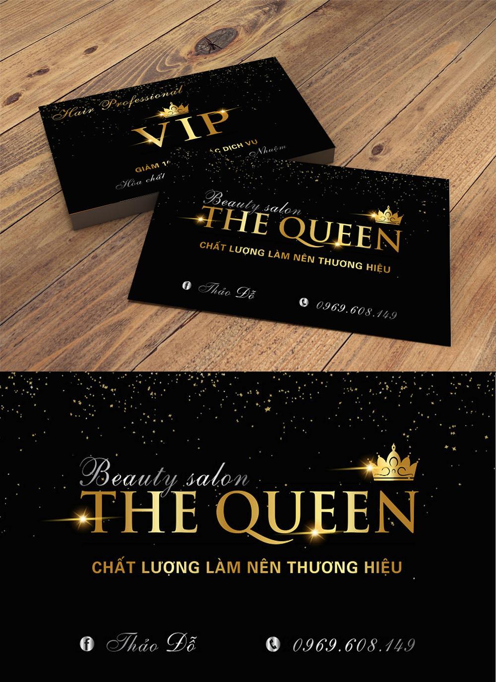 Mẫu thẻ vip the queen